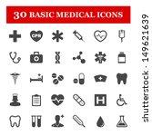 basic medical vector icon set | Shutterstock .eps vector #149621639