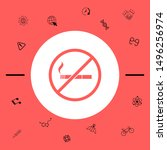 no smoking  smoking ban icon.... | Shutterstock .eps vector #1496256974