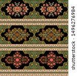 mughal motif border pattern... | Shutterstock .eps vector #1496276984