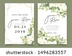 luxury wedding invitation set   ... | Shutterstock .eps vector #1496283557