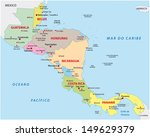 central america map | Shutterstock .eps vector #149629379