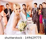 group people at wedding table... | Shutterstock . vector #149629775
