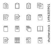 document file folders line... | Shutterstock .eps vector #1496305901