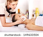 young woman getting facial ... | Shutterstock . vector #149633504