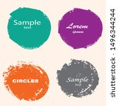 grunge post stamps collection ... | Shutterstock .eps vector #1496344244