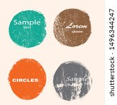 grunge post stamps collection ... | Shutterstock .eps vector #1496344247