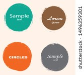 grunge post stamps collection ... | Shutterstock .eps vector #1496359301