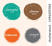 grunge post stamps collection ... | Shutterstock .eps vector #1496359304