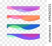 wavy design element. decor for... | Shutterstock .eps vector #1496363231