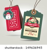 christmas gift tags | Shutterstock .eps vector #149636945