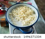 Instant Noodle. Boiling Water...