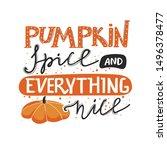 autumn lettering illustration...   Shutterstock .eps vector #1496378477