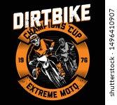 extreme style motocross in dirt   Shutterstock .eps vector #1496410907