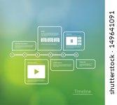 vector timeline template.... | Shutterstock .eps vector #149641091