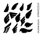 set of the wing icons. design... | Shutterstock .eps vector #1496422214