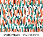 vector seamless background... | Shutterstock .eps vector #1496481041