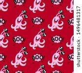 abstract seamless halloween... | Shutterstock .eps vector #1496481317