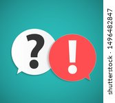 question and answer marks with... | Shutterstock .eps vector #1496482847