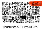 big set of brush strokes text... | Shutterstock .eps vector #1496483897