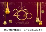 happy new year 2020   new year... | Shutterstock .eps vector #1496513354