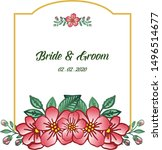 poster or banner bride and... | Shutterstock .eps vector #1496514677