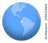 ecuador on the globe. earth...   Shutterstock .eps vector #1496523641