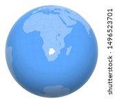botswana on the globe. earth...   Shutterstock .eps vector #1496523701