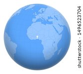 benin  dahomey  on the globe....   Shutterstock .eps vector #1496523704
