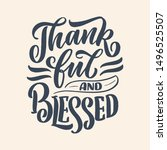 hand drawn lettering quote for... | Shutterstock .eps vector #1496525507