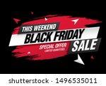 black friday sale banner layout ... | Shutterstock .eps vector #1496535011