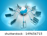 global computer network on... | Shutterstock . vector #149656715