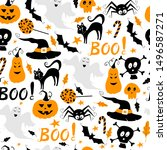seamless vector pattern for... | Shutterstock .eps vector #1496587271