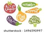 fresh vegetables prints set ...   Shutterstock .eps vector #1496590997