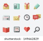 flat icon set | Shutterstock .eps vector #149662829
