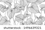 foliage seamless pattern ... | Shutterstock .eps vector #1496639321