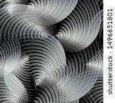 silver 3d abstract vector...   Shutterstock .eps vector #1496651801