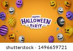 halloween background... | Shutterstock .eps vector #1496659721