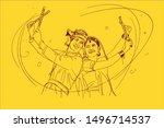 illustration design of indian... | Shutterstock .eps vector #1496714537