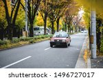japan taxi on the road with...   Shutterstock . vector #1496727017