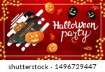 halloween party  red nvitation... | Shutterstock .eps vector #1496729447