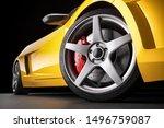 Yellow Sports Car  In Studio....