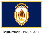 flag of springfield is a city... | Shutterstock .eps vector #1496772011