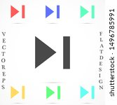 play button icon vector in...