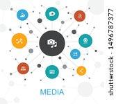 media trendy web concept with...