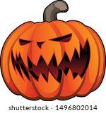 jack o' lantern halloween... | Shutterstock .eps vector #1496802014