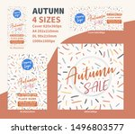 autum sale flyer dl a4 cover... | Shutterstock .eps vector #1496803577