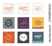 autumn sale flyer banner... | Shutterstock .eps vector #1496803601