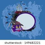 halloween cat   invitation    Shutterstock .eps vector #149682221
