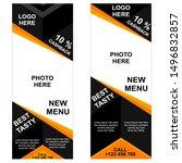 banner food design for... | Shutterstock .eps vector #1496832857