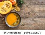 Pumpkin soup and organic...